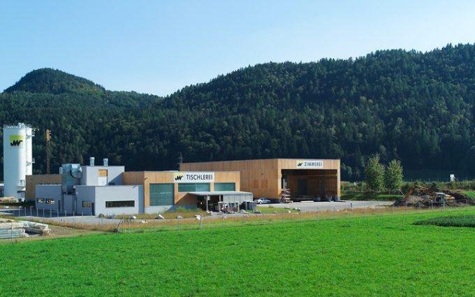 Das Firmengelände des Bauunternehmens Willroider - St. Niklas bei Villach