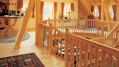 Willroider Holzmeisterhaus Dachstuhl Stiege