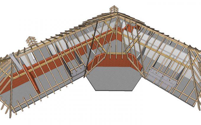 Willroider Dachstuhl aus Holz